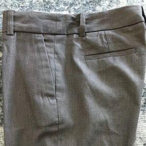 ZARA slacks pants cotton taupe brown mocha M